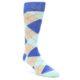 Image of Blues Grey Argyle Men's Dress Socks (side-1-front-01)