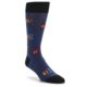 Image of Blue TV Pattern Men's Dress Socks (side-1-front-01)