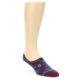 Image of Maroon Blue Men's Liner Socks (side-1-front-01)