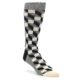 Image of Grey Black White Optical Men's Dress Socks (side-1-front-01)