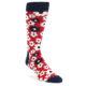 Image of Red Navy White Flowers Men's Dress Socks (side-1-front-01)