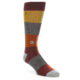 Image of Brown Multi-Color Checkered Men's Casual Socks (side-1-front-01)