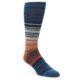 Image of Blue Grey Orange Stripe Men's Crew Socks (side-1-front-01)