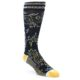Image of Navy White Yellow Floral Men's Casual Socks (side-1-front-01)
