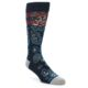 Image of Navy Red Grey Floral Men's Casual Socks (side-1-front-01)