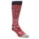 Image of Red White Bandanna Pattern Men's Casual Socks (side-1-front-01)
