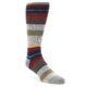 Image of Red Navy Tan Stripe Men's Casual Socks (side-1-front-01)