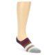Image of Red Navy Brown Pink Stripe Men's Liner Socks (side-1-front-01)