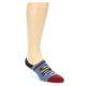 Image of Blue Red Black Men's Liner Socks (side-1-front-01)