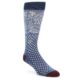 Image of Blue White Floral   Dots Men's Casual Socks (side-1-front-01)