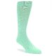 Image of Mint Green Solid Color Men's Dress Socks (side-1-front-01)