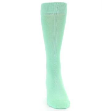 Image of Mint Green Solid Color Men's Dress Socks (front-04)