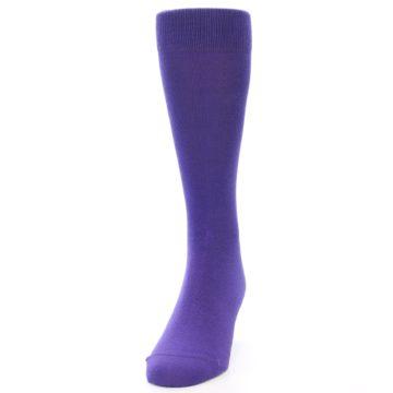 Image of Viola Purple Solid Color Men's Dress Socks (side-2-front-06)