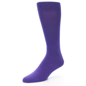 Image of Viola Purple Solid Color Men's Dress Socks (side-2-09)