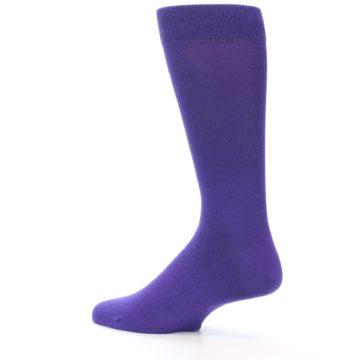 Image of Viola Purple Solid Color Men's Dress Socks (side-2-13)