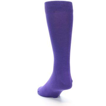 Image of Viola Purple Solid Color Men's Dress Socks (side-2-back-16)