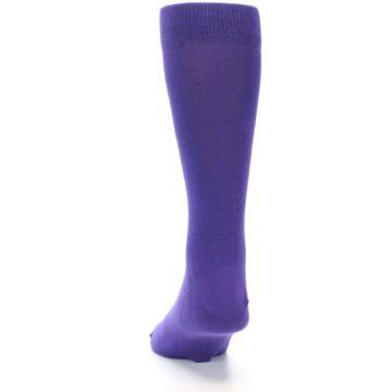 Image of Viola Purple Solid Color Men's Dress Socks (back-17)