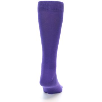 Image of Viola Purple Solid Color Men's Dress Socks (back-19)