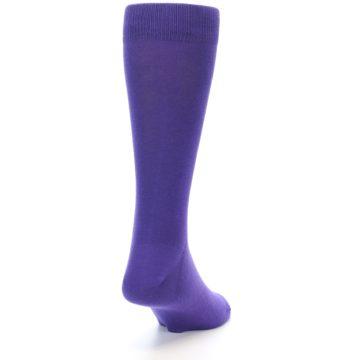 Image of Viola Purple Solid Color Men's Dress Socks (side-1-back-20)