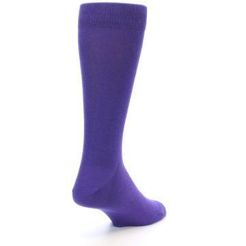 Image of Viola Purple Solid Color Men's Dress Socks (side-1-back-21)