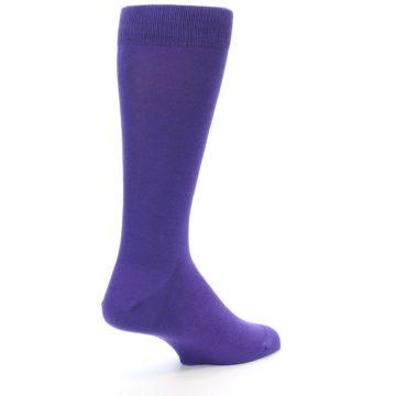 Image of Viola Purple Solid Color Men's Dress Socks (side-1-back-22)