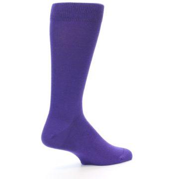Image of Viola Purple Solid Color Men's Dress Socks (side-1-23)
