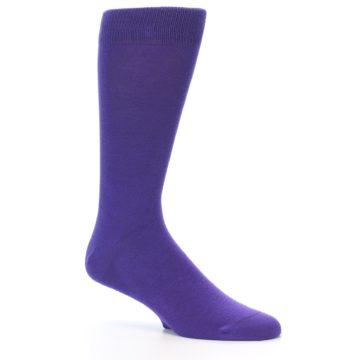 Image of Viola Purple Solid Color Men's Dress Socks (side-1-26)
