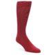 Image of Apple Red Solid Color Men's Dress Socks (side-1-front-01)