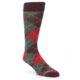 Image of Grey Red Maroon Argyle Men's Dress Socks (side-1-front-01)