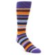 Image of Purple Brown Orange Stripe Men's Dress Socks (side-1-front-01)