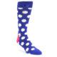 Image of Blue White Polka Dot Men's Dress Socks (side-1-front-01)