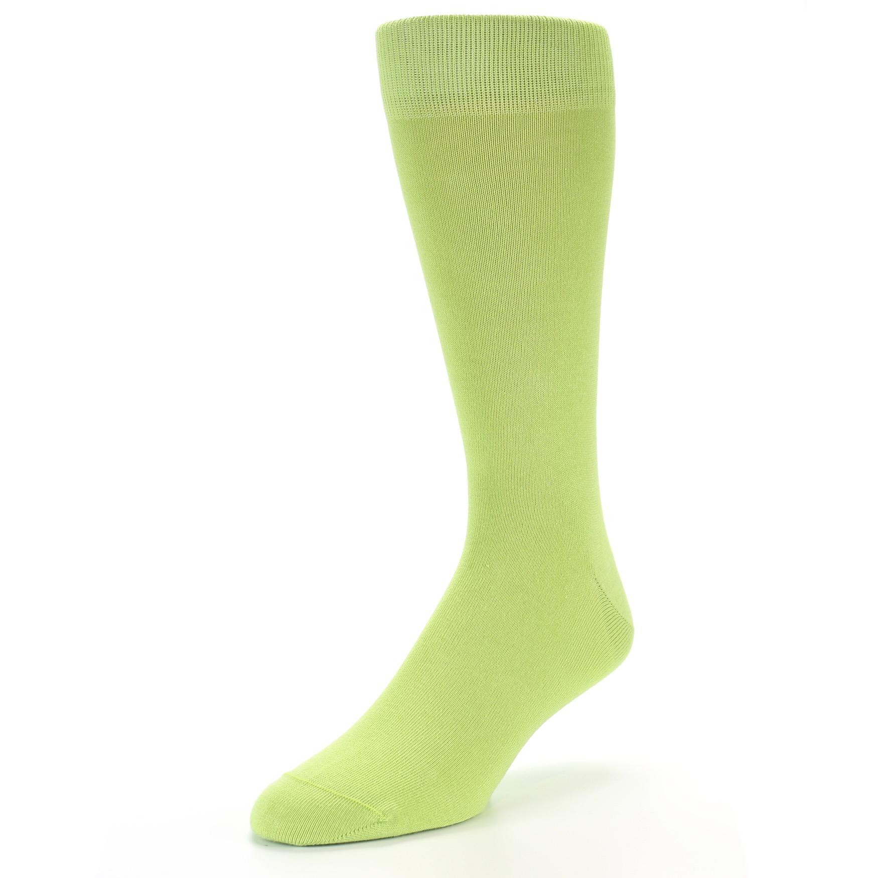 Lime Green Solid Color Socks Men S Dress Socks Boldsocks