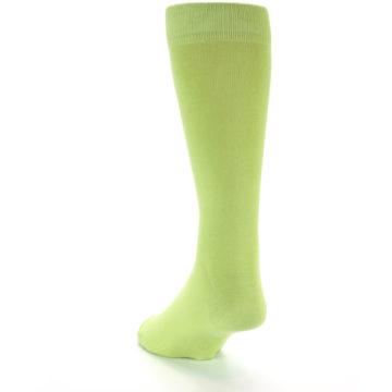 Image of Lime Green Solid Color Men's Dress Socks (side-2-back-16)
