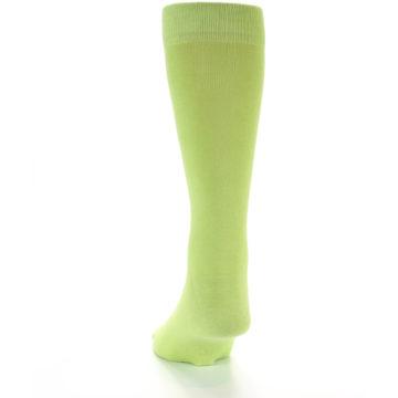 Image of Lime Green Solid Color Men's Dress Socks (back-17)