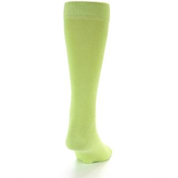 Image of Lime Green Solid Color Men's Dress Socks (back-19)