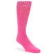Image of Hot Pink Solid Color Men's Dress Socks (side-1-front-01)