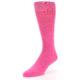 Image of Hot Pink Solid Color Men's Dress Socks (side-2-front-08)