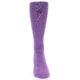 Image of Wisteria Purple Solid Color Men's Dress Socks (front-05)