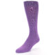 Image of Wisteria Purple Solid Color Men's Dress Socks (side-2-09)