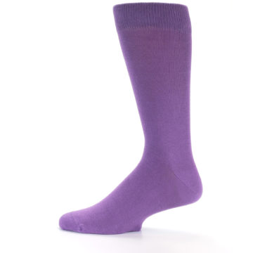 Image of Wisteria Purple Solid Color Men's Dress Socks (side-2-13)