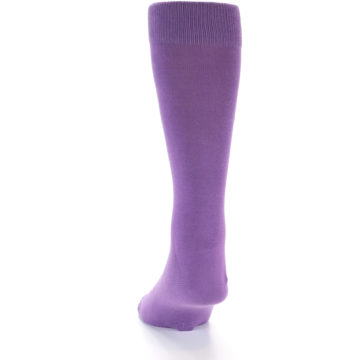 Image of Wisteria Purple Solid Color Men's Dress Socks (back-18)