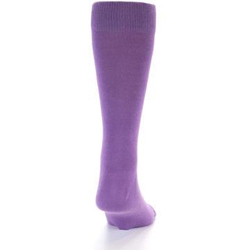 Image of Wisteria Purple Solid Color Men's Dress Socks (side-1-back-20)