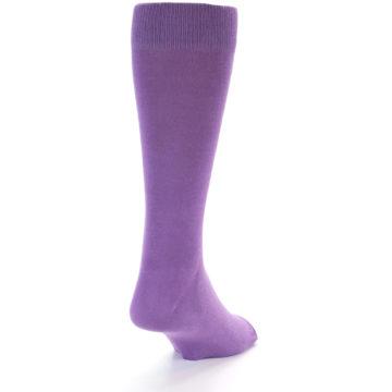 Image of Wisteria Purple Solid Color Men's Dress Socks (side-1-back-21)