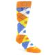 Image of Orange Blue Yellow Argyle Men's Dress Socks (side-1-front-01)