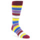 Image of Red Multi-Color Stripe Men's Dress Socks (side-1-front-01)