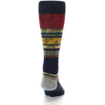 Image of Multi-Color Paisley Men's Casual Socks (back-19)