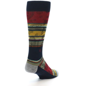 Image of Multi-Color Paisley Men's Casual Socks (side-1-back-21)