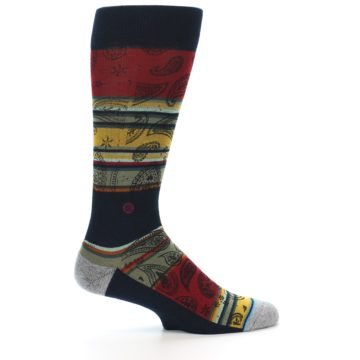 Image of Multi-Color Paisley Men's Casual Socks (side-1-24)