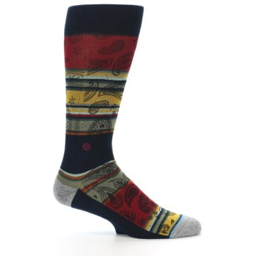 Image of Multi-Color Paisley Men's Casual Socks (side-1-25)