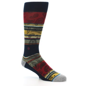 Image of Multi-Color Paisley Men's Casual Socks (side-1-27)